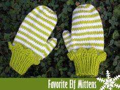 Favorite Elf Mittens Knitting Pattern