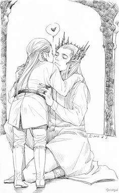 half the time i wonder if elvish families are actually like this.  i should like to think they are.