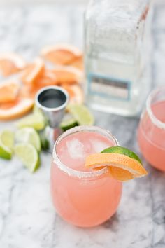 Tequila Paloma ~ refreshing grapefruit juice and lime with a splash of tequila