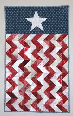 Feeling Patriotic wall quilt ~ for July 4th or Memorial Day | from Gigi's Thimble at A Little Bit Biased