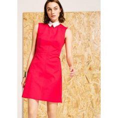 Fuchsia Sleeveless Dress with Collar @ TARA JARMON