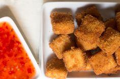 tofu katsu with chilli sauce-closeup