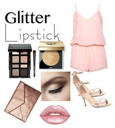 """""""•Pink Glitter Lips•"""" by kaileyalfonso ❤ liked on Polyvore featuring beauty, Bobbi Brown Cosmetics, Lime Crime, Boux Avenue, Rebecca Minkoff and Verali"""