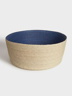 Blue Palm Leaf Basket by Makaua   DARA Artisans