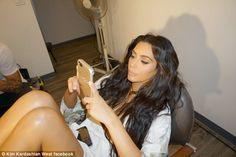 Kim Kardashian breaks social media silence by sharing glamorous image on Facebook   Daily Mail Online