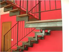 Escaleras metalicas on pinterest for Escaleras metalicas para interiores de casas