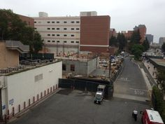 UCLA Grand Hotel: Engineering construction across the street creates walkway between the two projects.