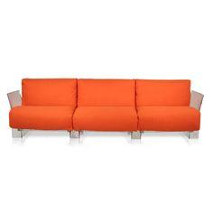 Pop Three Seater Cotton Sofa by Kartell  - Opad.com