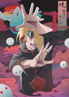 Image discovered by 🌹Ana-Maria🥀. Find images and videos about naruto, deidara and narutoshippuden on We Heart It - the app to get lost in what you love. Naruto Shippuden Sasuke, Anime Naruto, Fan Art Naruto, Itachi Uchiha, Otaku Anime, Manga Anime, Anime Boys, Naruto Wallpaper, Wallpaper Memes