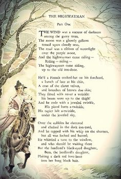 what is the theme of the poem the highwayman