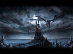 Dark, evil, villians, Castle, Dragons