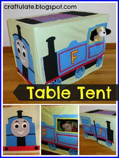 Craftulate: Table Tent - Steam Train