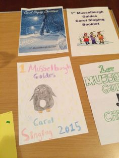 Covers for Christmas carol song books