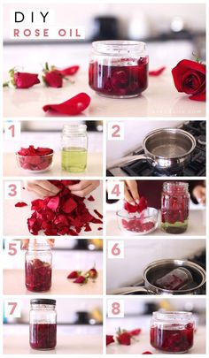 DIY Rose Oil & Rose Water - Lavendaire Pamper yourself this Valentine's week. Diy Beauté, How To Make Rose, Homemade Scrub, Rose Candle, Infused Oils, Homemade Beauty Products, Tips Belleza, Beauty Recipe, Diy Candles