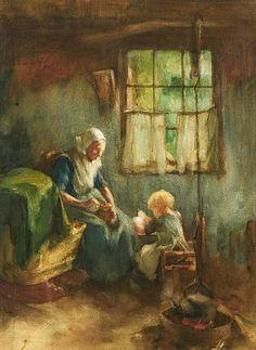 Jozef Israels  DUTCH 1824-1911  A Family i