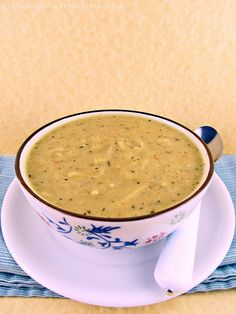 Cheesy Zucchini Soup