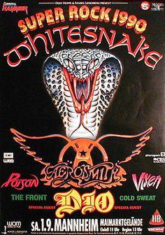 Super Rock 1990--Whitesnake, Aerosmith, Dio, Poison