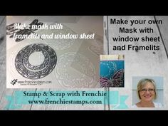 By France Martin. Make your own Mask/ Stencil using a die and acetate. Card Making Tips, Card Making Tutorials, Card Making Techniques, Video Tutorials, Homemade Stencils, Make Your Own Stencils, Embossed Cards, Masking, Craft Videos