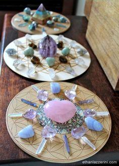 Crystal Room, Crystal Wall, Crystal Grid, Crystal Beads, Crystal Mandala, Crystal Magic, Crystal Decor, Crystal Healing Stones, Stones And Crystals