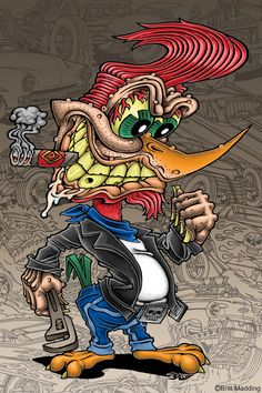 ratfink toons of art cartoon tattoo lowbrow favourite cartoon character rat fink Cartoon Kunst, Cartoon Art, Cartoon Illustrations, Cartoon Characters, Ed Roth Art, Arte Dope, Street Art, Cartoon Tattoos, Rat Fink