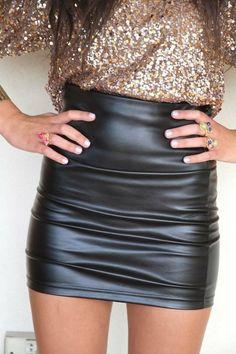 leather & sparkle - amazing combo.