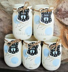 Baby Boy Shower Centerpieces Painted Baby Shower by charmcitycharm