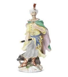 A Meissen figure of Cyrus emblematic of Persia, circa 1750-60