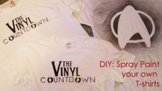 Spray paint your own t-shirt