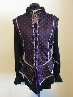 Purple Renaissance doublet made by my for my boyfriend.