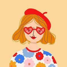 Fashion Illustration Collage, Illustration Girl, Portrait Illustration, Character Illustration, Posca Marker, Marker Art, Art Drawings Sketches Simple, Colorful Drawings, Character Art