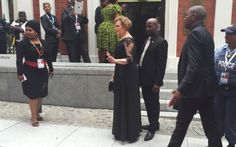 DA leader Helen Zille arrives at Parliament for the 2015 State of the Nation address. Democratic Alliance, South Africa, Sad, Fashion, Moda, Fashion Styles, Fashion Illustrations