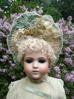 Beautiful antique hat for a French antique doll | eBay