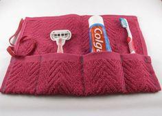 Per organizzare dentifricio, spazzolino e altri oggetti del bagno.