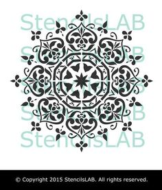 Mandala Style Stencil - Floral Motive Wall Stencil - Original And Unique Wall…