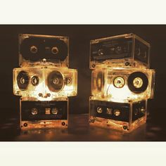 Take your Dad down a musical memory lane with this stunning retro cassette lamp