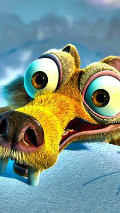 Ice Age movie Scrat iPhone 5 wallpaper