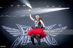 Suzuka Nakamoto 'Su-Metal' performs with Babymetal on Day 1 of the Heavy Montreal Festival on August 9, 2014 in Montreal, Canada.