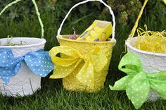 Make your own Easter baskets out of nursery pots
