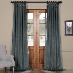 Riverton Plush Velvet 100% Polyester Single Curtain Panel Reviews (€45) ❤ liked on Polyvore featuring home, home decor, window treatments, curtains, velvet window panels, velvet curtains, velvet drapery panels, polyester curtains and velvet drapery