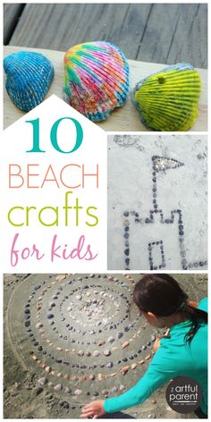 10 Ocean Crafts for Kids to Do at the Beach (for a More Creative Trip) is part of Beach crafts To Make - 10 fun ocean crafts for kids to make your next beach trip more creative Includes melted crayon shells, sandcasting, sea shell mandalas, fish paintings Beach Crafts For Kids, Ocean Crafts, Beach Kids, Summer Activities For Kids, Nature Crafts, Summer Crafts, Craft Activities, Art For Kids, Ocean Beach
