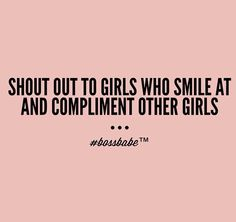 Been living this for years. It is sad that so many women do not compliment each other. Why? Sm