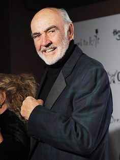 Sean Connery is a retired Scottish actor who is probably best known for his role as Agent 007 in the original James Bond films. Sean Connery James Bond, Bald Man, Scottish Actors, The Virginian, Best Supporting Actor, Star Wars, Actrices Hollywood, Creative Portraits, Celebs