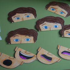 Imprima quebra-cabeça com faces para trabalhar emoções