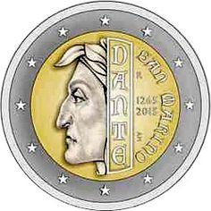 2 Euro 2015 750th Anniversary of the Birth of Dante Alighieri Commemorative San Marino