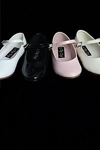 Flower Girl Dress - Infant and Toddlers Size Simple and Classic Patent Shoe- Style S36 SALE ASSORTED SIZES AND COLORS