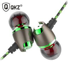 Earphone QKZ DM11 Magnetic Stereo BASS Metal in-Ear Earphone Noise Cancelling Headsets DJ In Ear Earphones HiFi Ear Phone