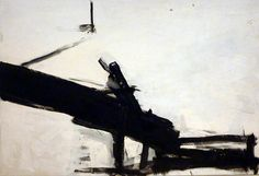 Franz Kline - Monitor  - I love this because it reminds me of Japanese ink paintings, but Kline goes a step further, where he obliterates content, elevating pure form