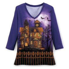 Embellished Haunted-House Top