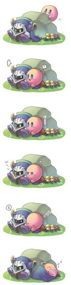 Kirby and metaknight are so cute
