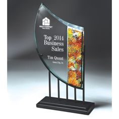Our Mosaic Glass Award features a variety of glass colors on the right and a clear glass engraving area on the left, mounted on a metal base. is x and includes free personalized engraving. Mosaic Glass, Glass Art, Glass Awards, Glass Plaques, Corporate Awards, Glass Picture Frames, Glass Engraving, Diamond Shapes, Colored Glass